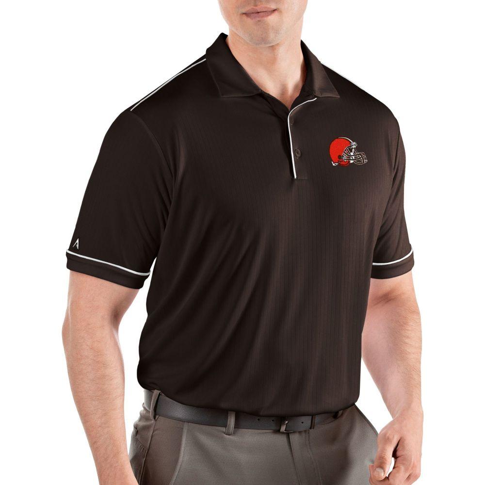 アンティグア Antigua メンズ ポロシャツ トップス【Cleveland Browns Salute Dark Brown Polo】