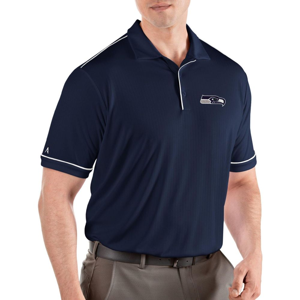 アンティグア Antigua メンズ ポロシャツ トップス【Seattle Seahawks Salute Navy/White Polo】