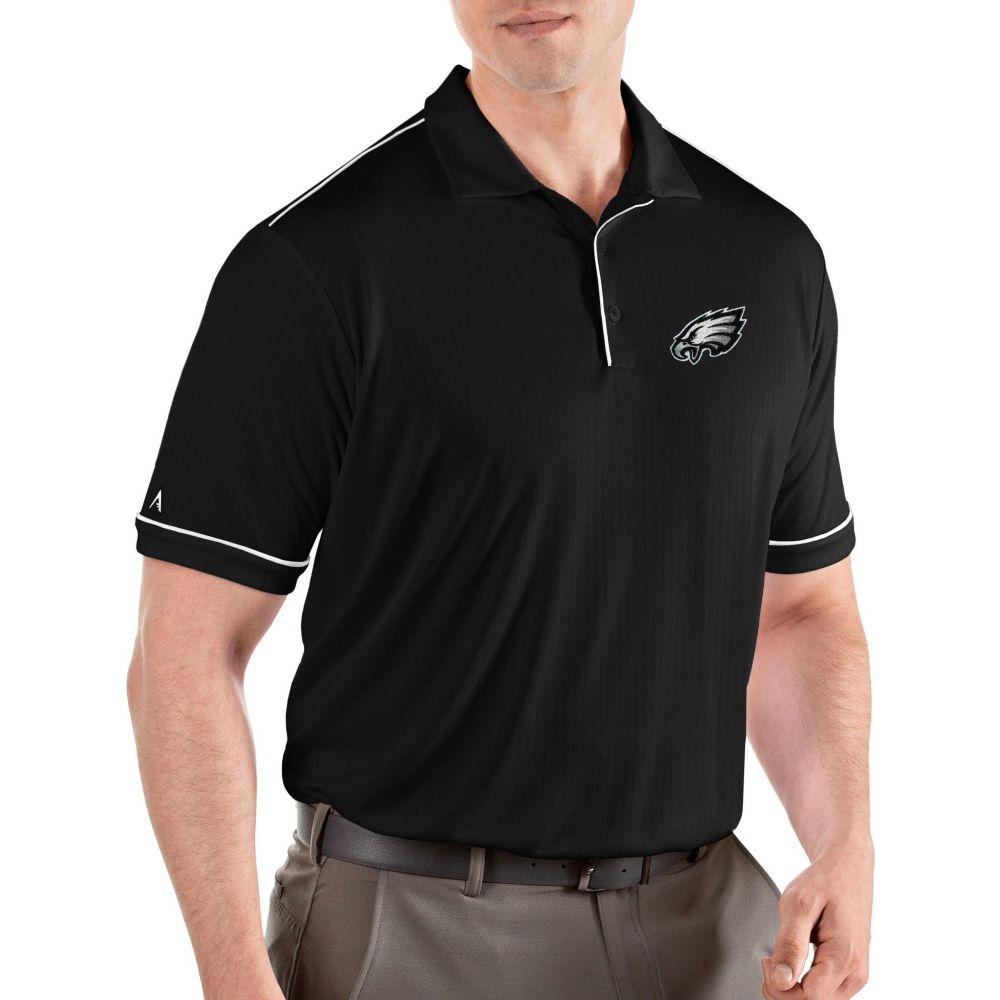 アンティグア Antigua メンズ ポロシャツ トップス【Philadelphia Eagles Salute Black Polo】