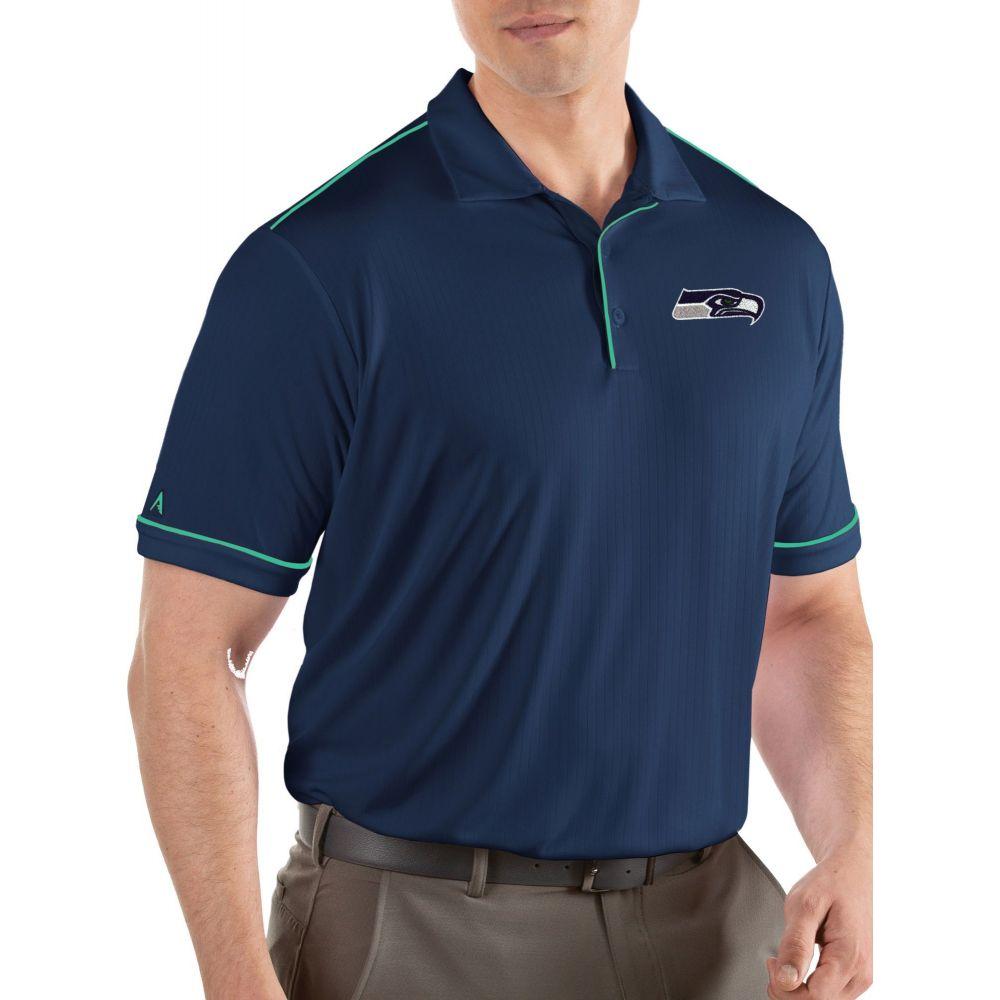 アンティグア Antigua メンズ ポロシャツ トップス【Seattle Seahawks Salute Navy Polo】