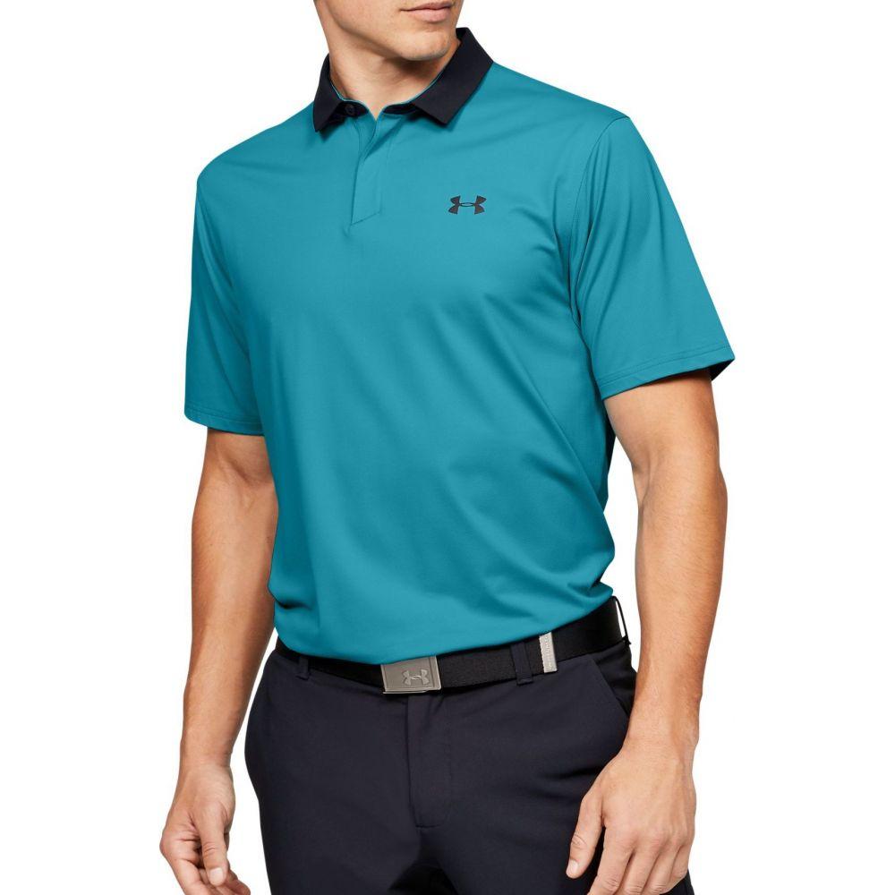 アンダーアーマー Under Armour メンズ ゴルフ ポロシャツ トップス【Iso-Chill Printed Golf Polo】Black