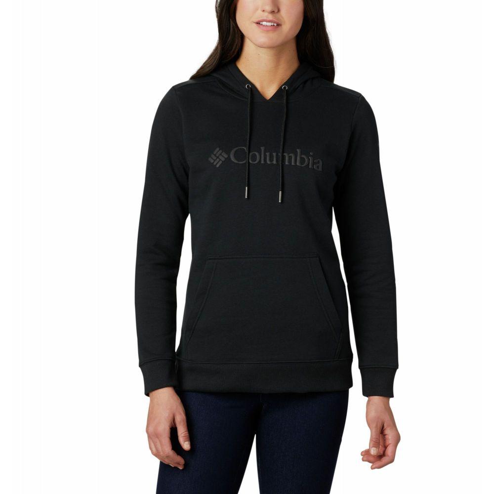 コロンビア Columbia レディース パーカー トップス【Logo Hoodie】Black