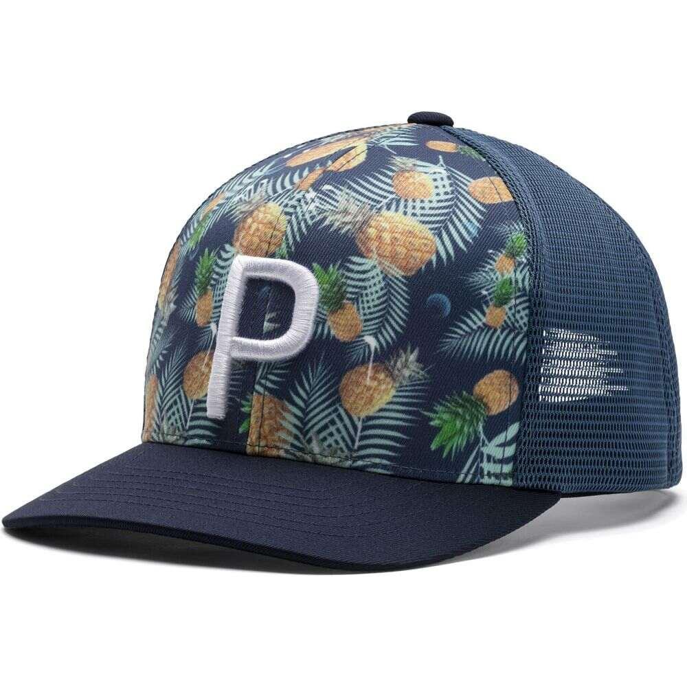 プーマ PUMA メンズ キャップ トラッカーハット 帽子【Trucker 110 Golf Hat】Dark Denim