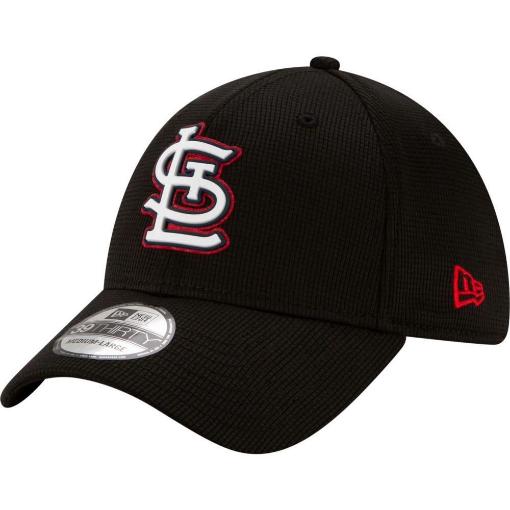 ニューエラ New Era メンズ 帽子 【St. Louis Cardinals Black 39Thirty Clubhouse Stretch Fit Hat】