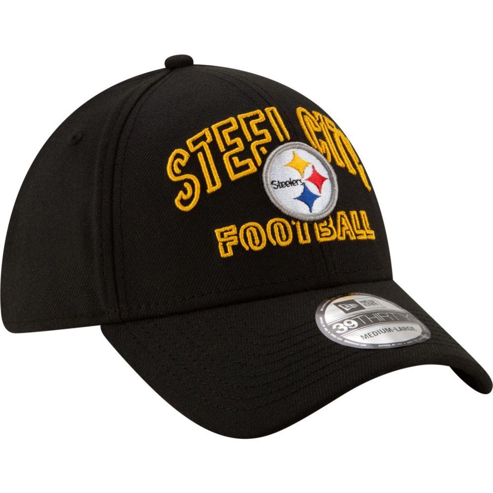 ニューエラ New Era メンズ 帽子 【Pittsburgh Steelers 2020 NFL Draft Alternate 39Thirty Stretch Fit Black Hat】