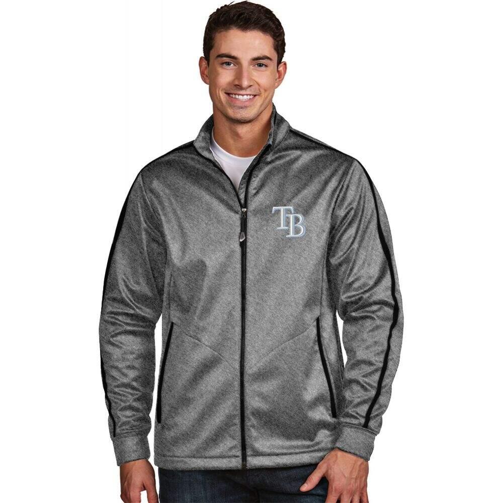 アンティグア Antigua メンズ ゴルフ ジャケット アウター【Tampa Bay Rays Grey Golf Jacket】