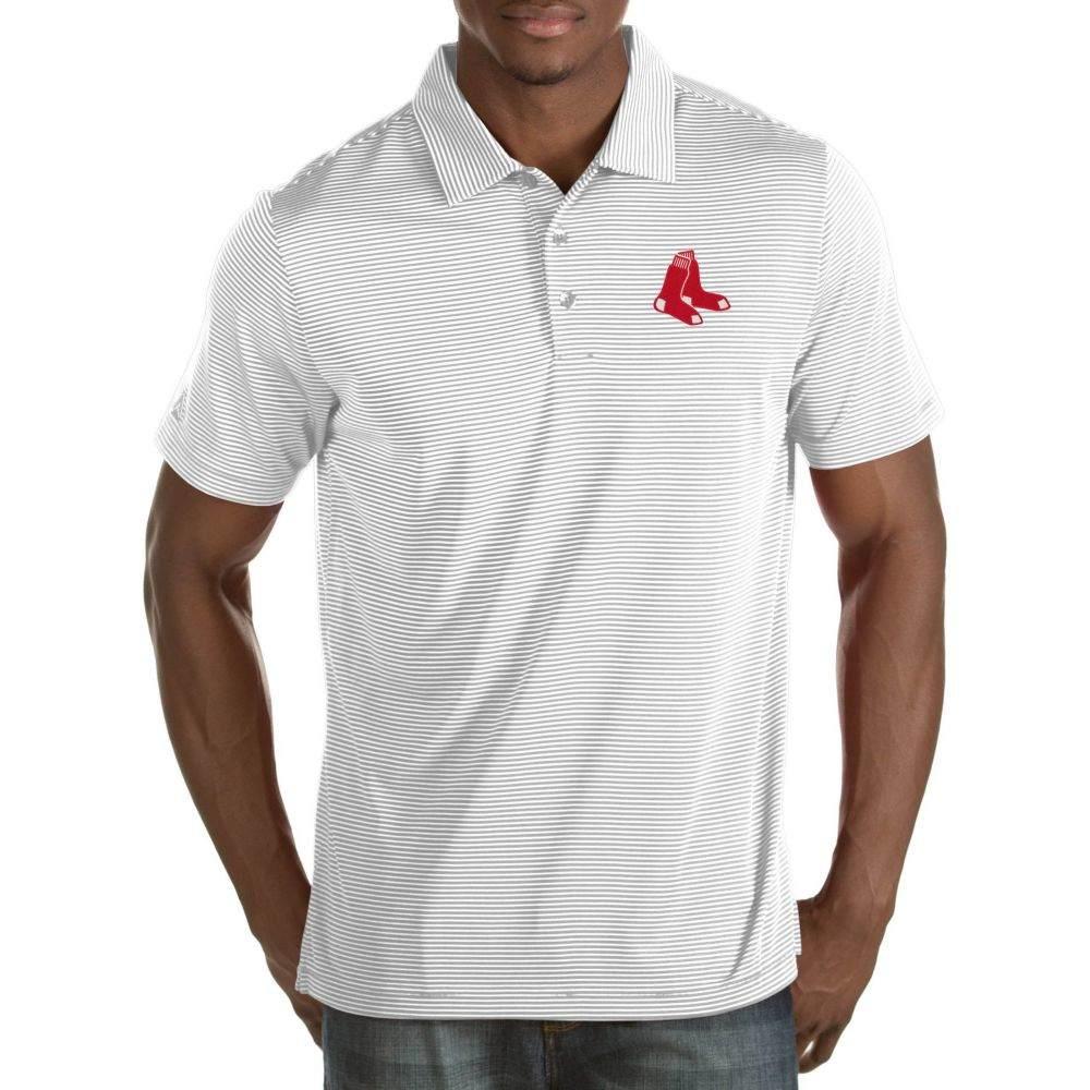 アンティグア Antigua メンズ ポロシャツ トップス【Boston Red Sox Quest White Performance Polo】