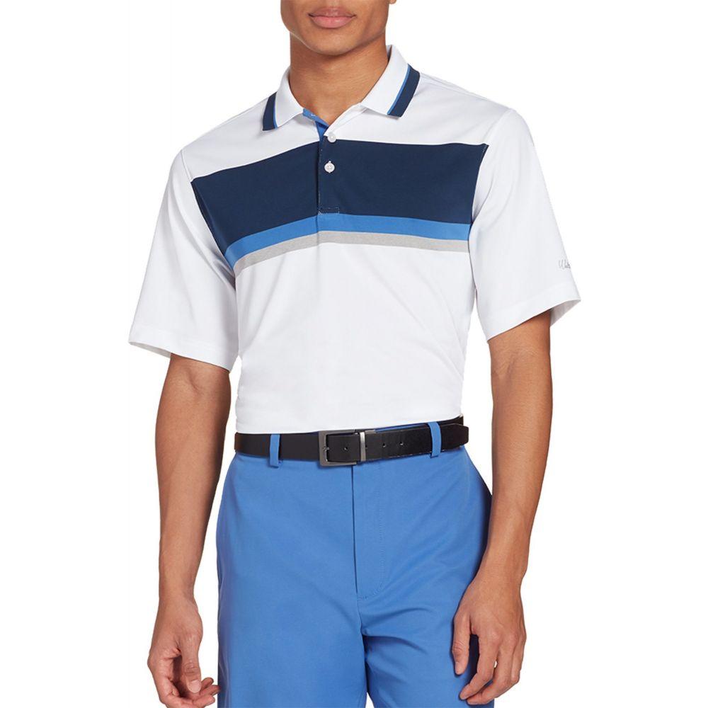 ウォルターヘーゲン Walter Hagen メンズ ゴルフ ポロシャツ トップス【11 Majors Colorblock Golf Polo】White