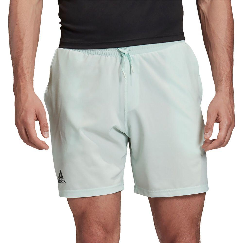 アディダス adidas メンズ テニス ショートパンツ ボトムス・パンツ【Stretch Woven Tennis Shorts】Dash Green