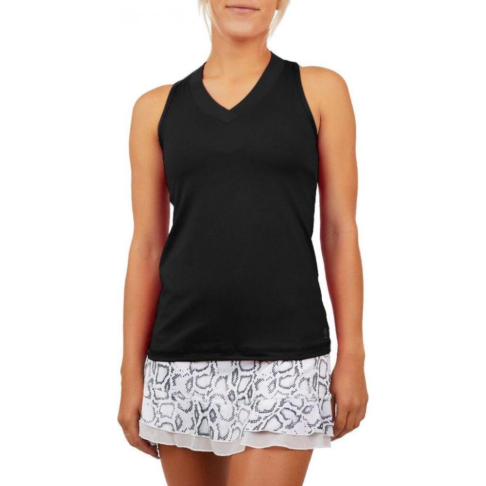 ソフィベラ Sofibella レディース テニス タンクトップ トップス【UV Colors Racerback Tennis Tank Top】Black
