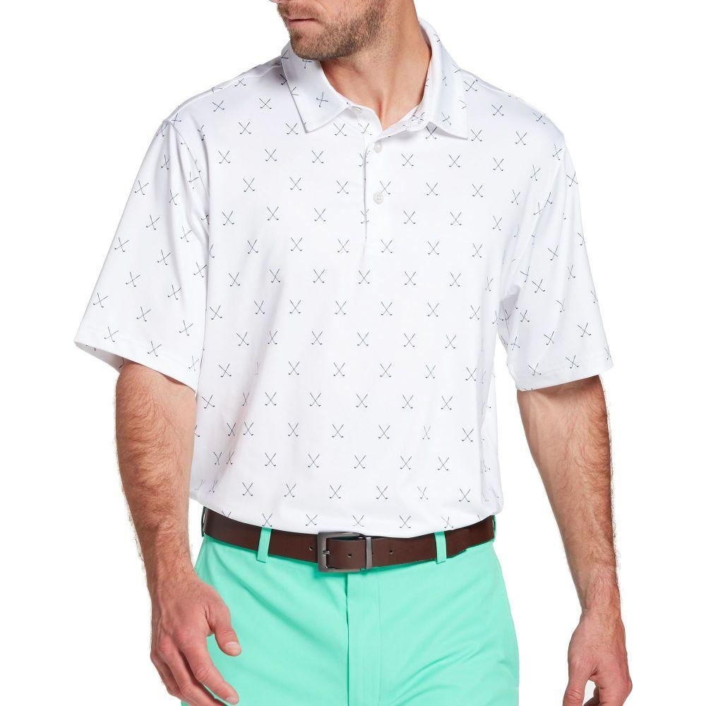 ウォルターヘーゲン Walter Hagen メンズ ゴルフ ポロシャツ トップス【11 Majors Cross Clubs Golf Polo】White