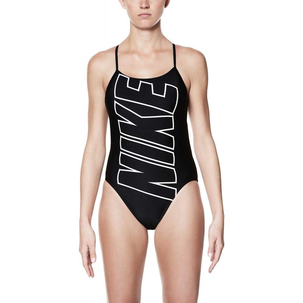 ナイキ Nike レディース ワンピース 水着・ビーチウェア【Performance Logo V-Back Swimsuit】Black
