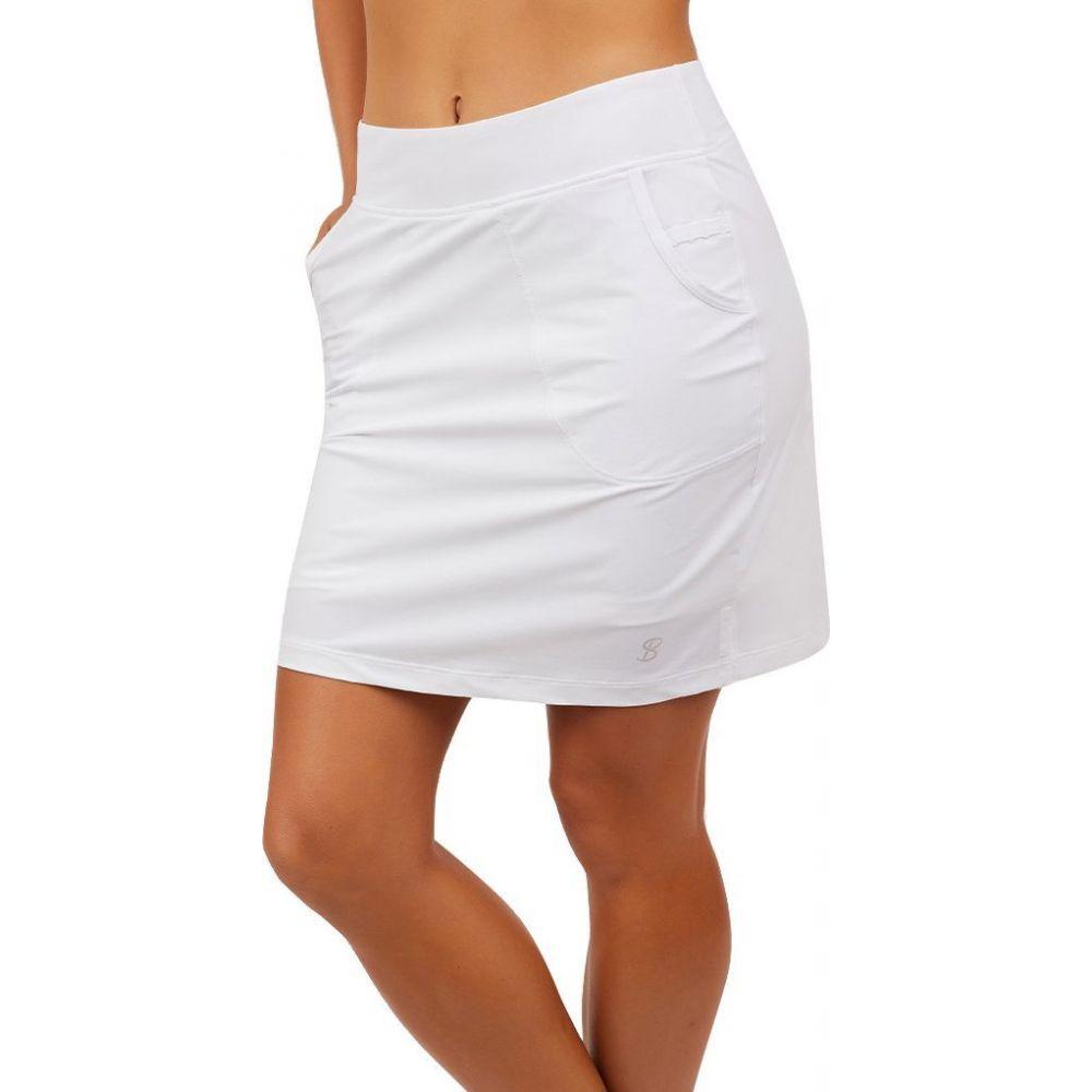 ソフィベラ Sofibella レディース テニス スカート ボトムス・パンツ【18 Tennis/Golf Skort】White