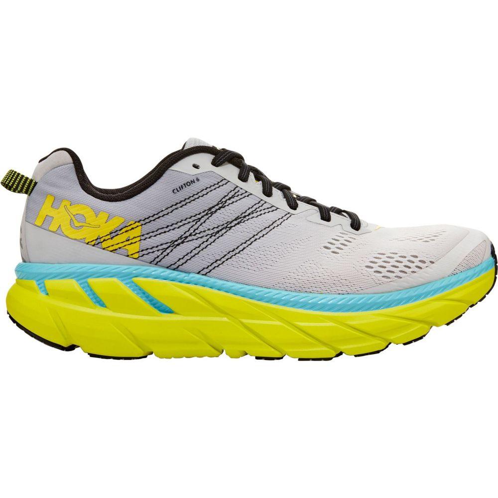 ホカ オネオネ Hoka One One メンズ ランニング・ウォーキング シューズ・靴【HOKA ONE ONE Clifton 6 Running Shoes】Grey/Blue/Lime