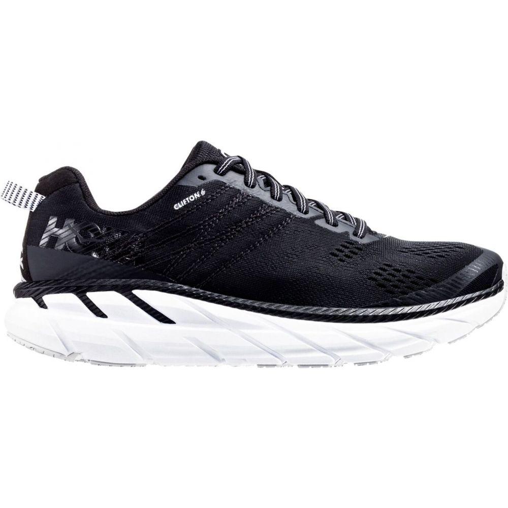 ホカ オネオネ Hoka One One メンズ ランニング・ウォーキング シューズ・靴【HOKA ONE ONE Clifton 6 Running Shoes】Black/White