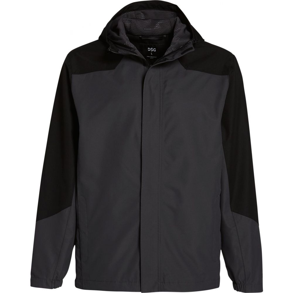 DSG メンズ レインコート アウター【Waterproof Rain Jacket】Pure Black