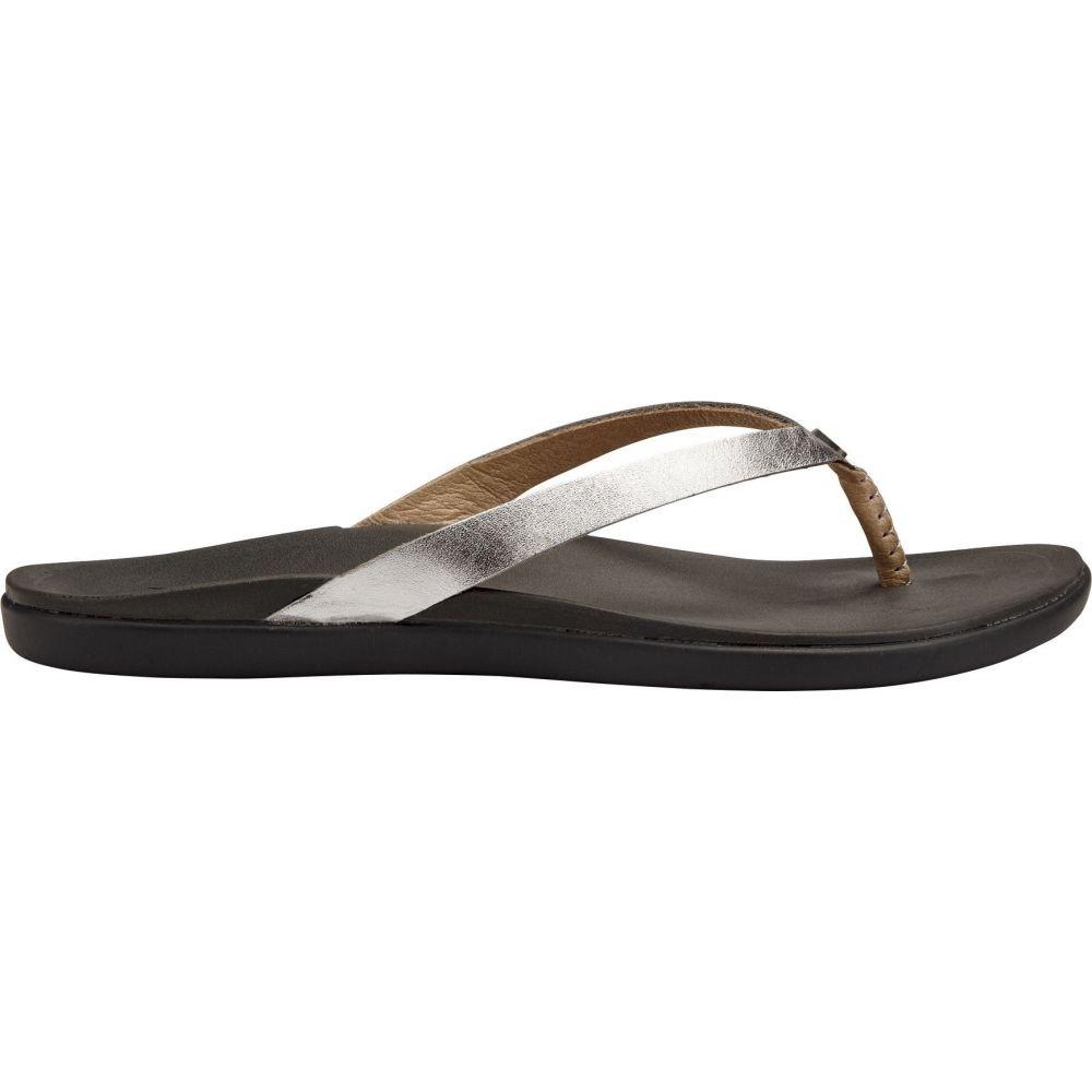 オルカイ OluKai レディース サンダル・ミュール シューズ・靴【Ho'opio Leather Sandals】Silver