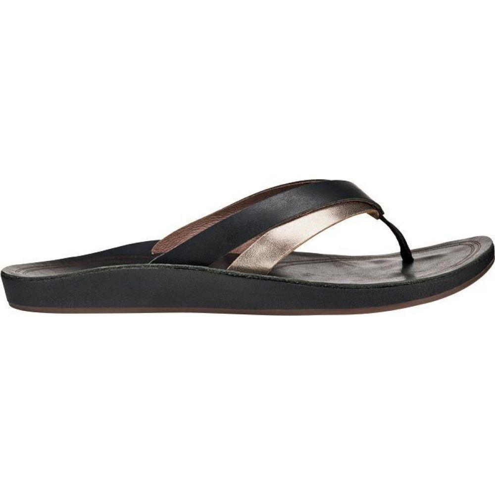 オルカイ OluKai レディース サンダル・ミュール シューズ・靴【KaeKae Sandals】Black/Silver