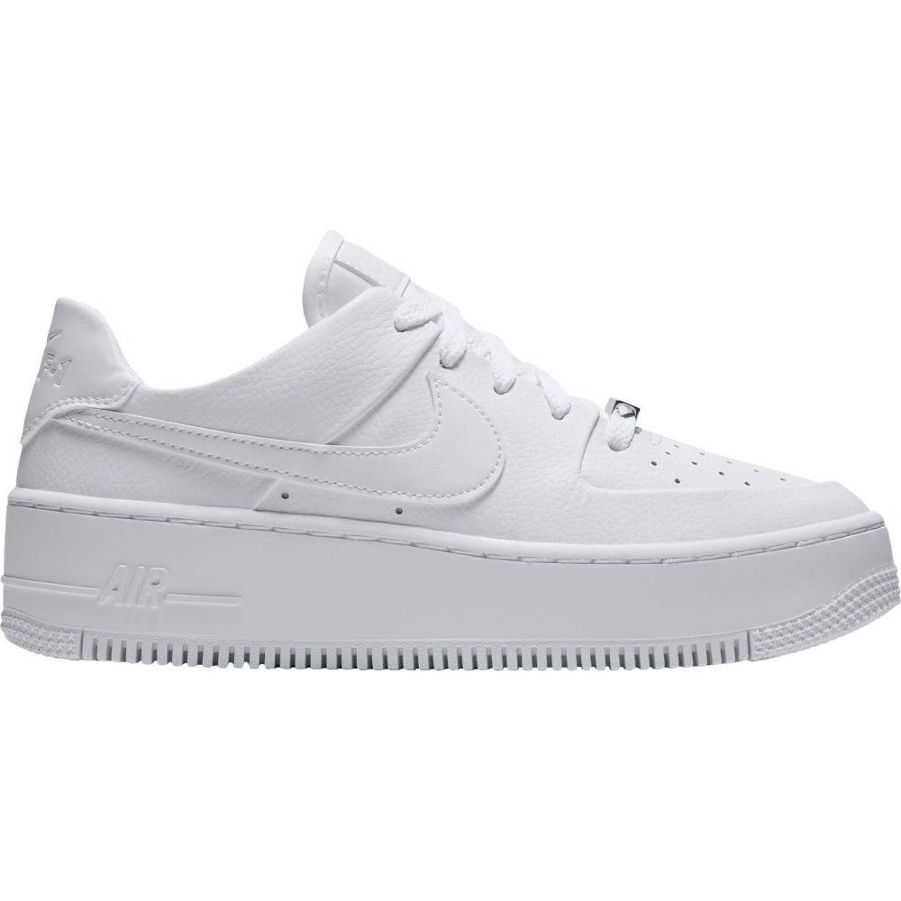 ナイキ Nike レディース スニーカー エアフォースワン シューズ・靴【Air Force 1 Sage Shoes】White