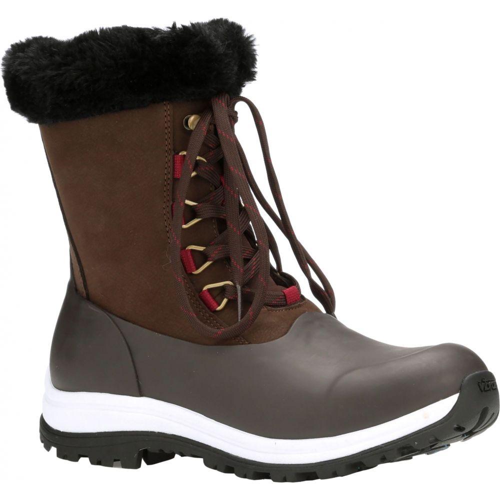 マックブーツ Muck Boots レディース ブーツ レースアップブーツ シューズ・靴【Arctic Apres Lace Up Boots】Brown