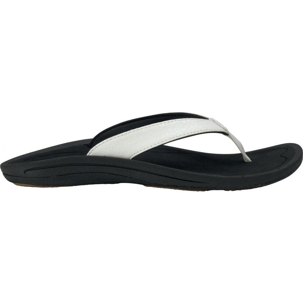 オルカイ OluKai レディース サンダル・ミュール シューズ・靴【Kulapa Kai Sandals】White/Black