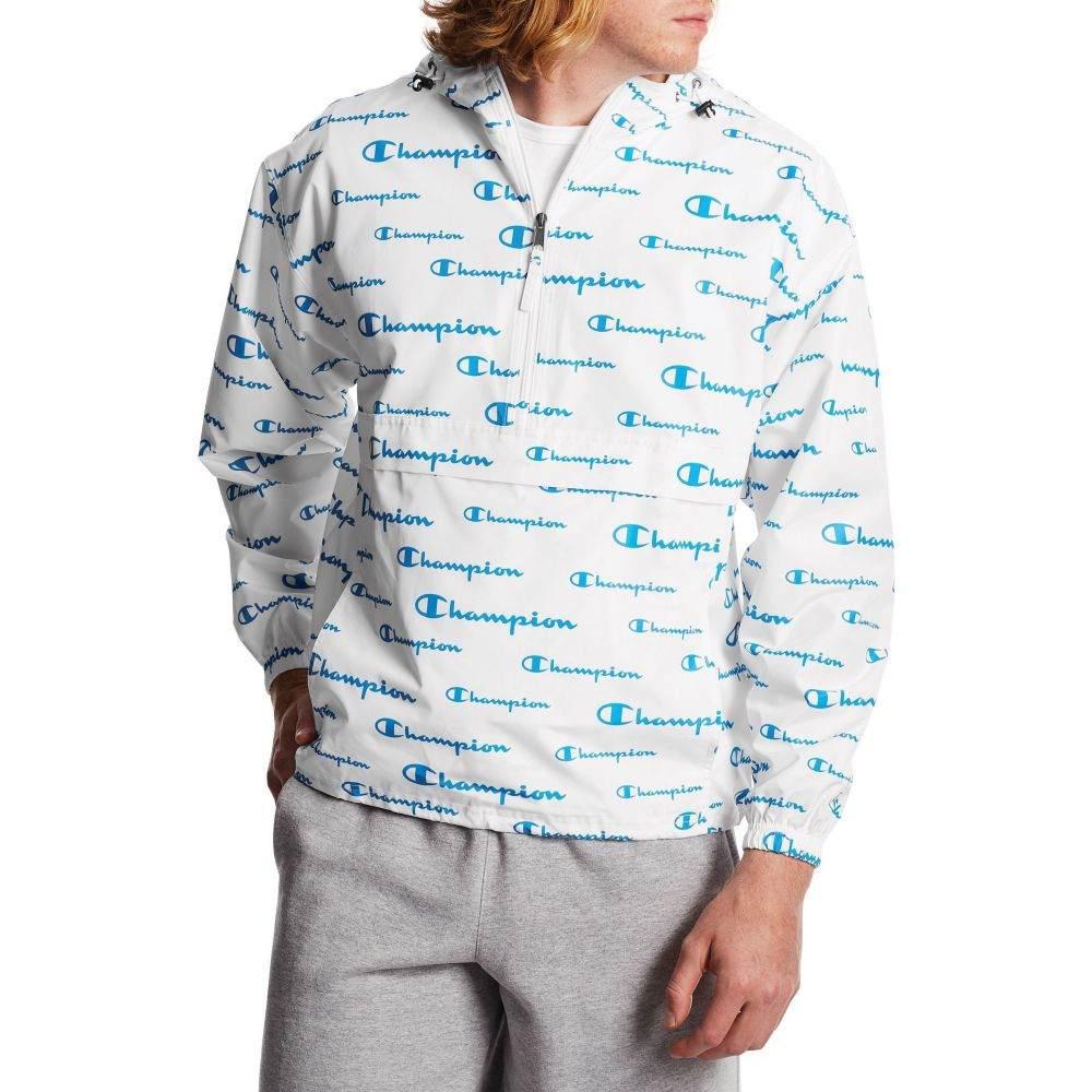 Jacket】White All Print Champion ジャケット チャンピオン メンズ アウター【Packable Over
