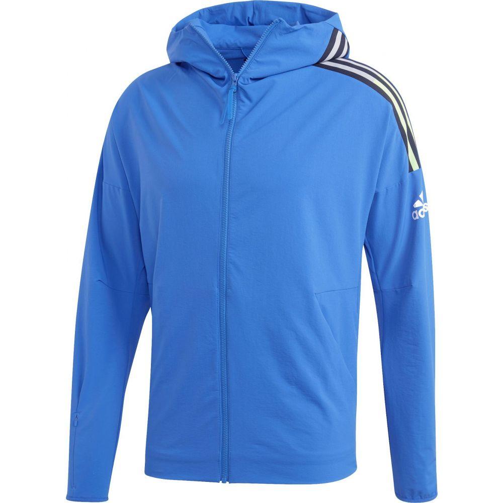 アディダス adidas メンズ パーカー トップス【Z.N.E. Full Zip Hoodie】Blue