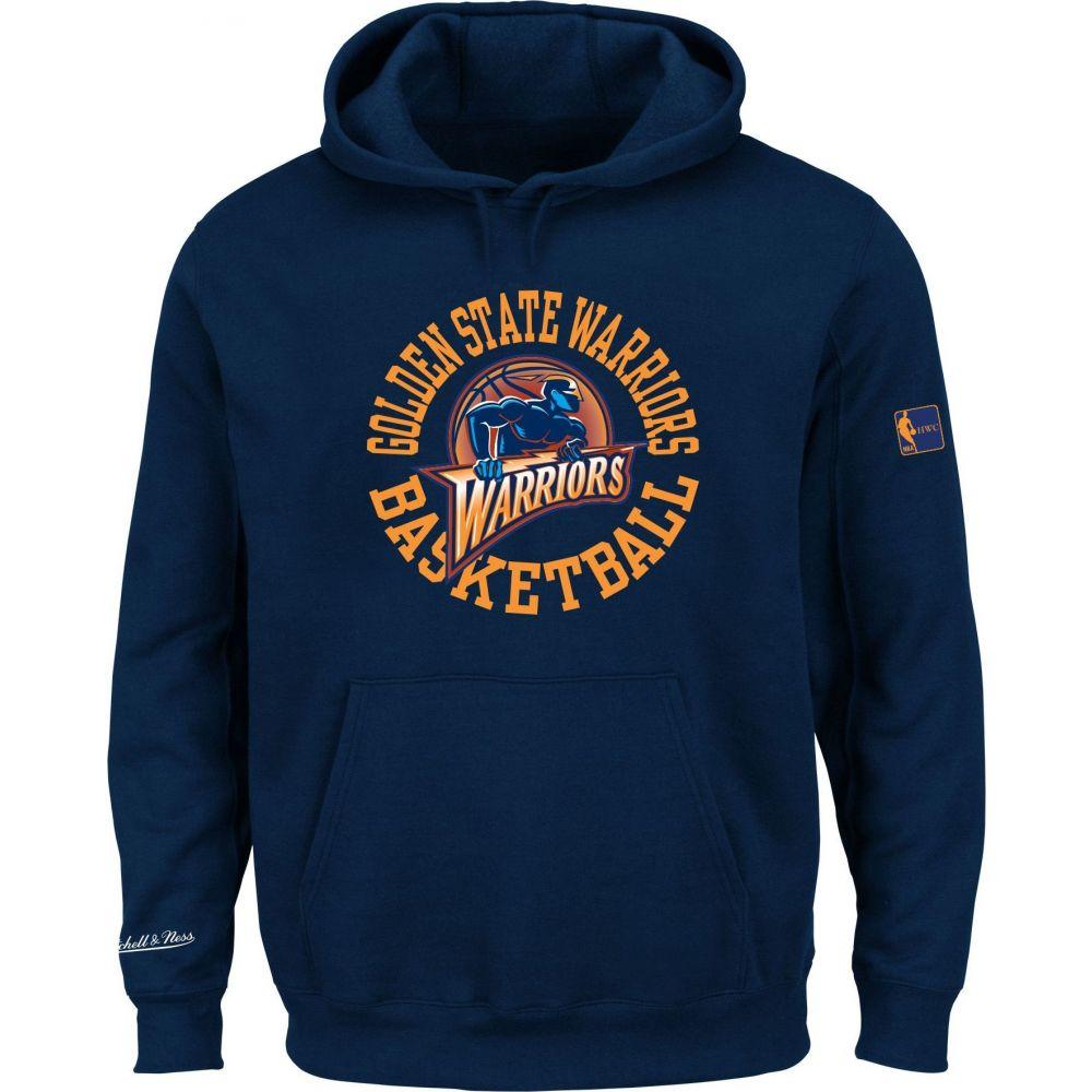 ミッチェル&ネス Mitchell & Ness メンズ パーカー トップス【Golden State Warriors Fleece Pullover Hoodie】