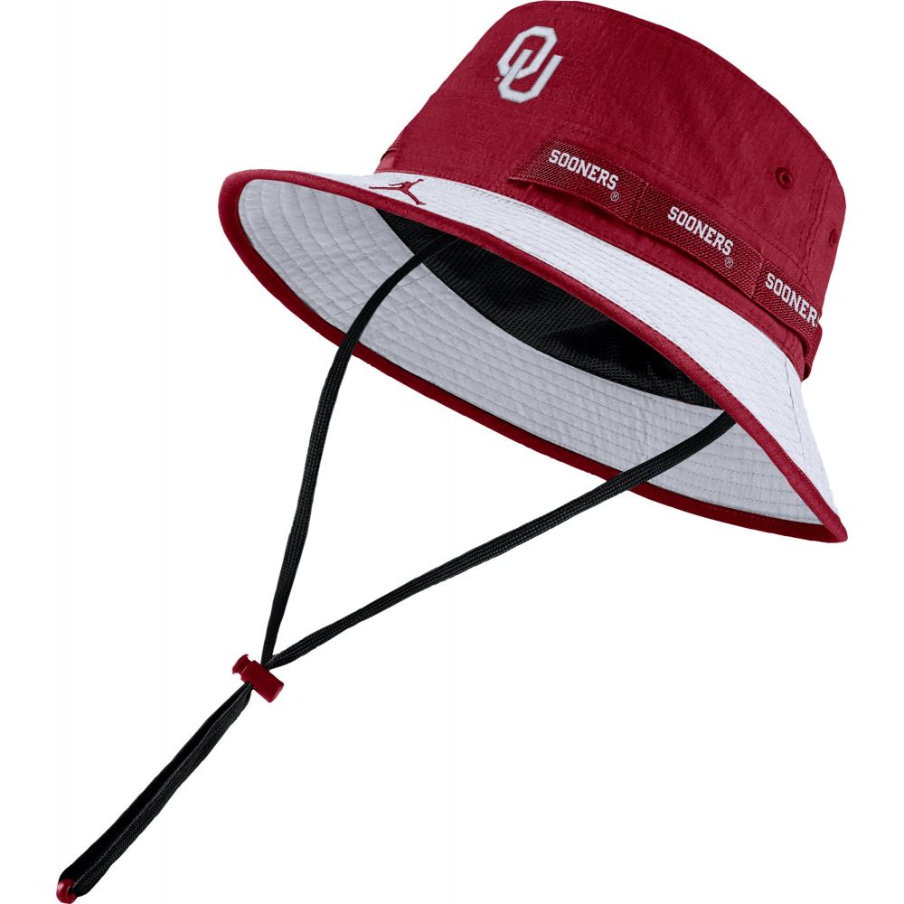 ナイキ ジョーダン Jordan メンズ ハット バケットハット 帽子【Oklahoma Sooners Crimson Dri-FIT Sideline Bucket Hat】