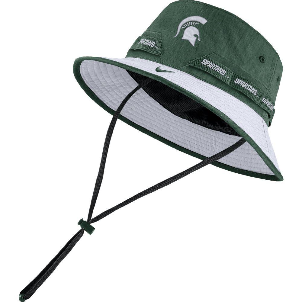 ナイキ Nike メンズ ハット バケットハット ドライフィット 帽子【Michigan State Spartans Green Dri-FIT Sideline Bucket Hat】