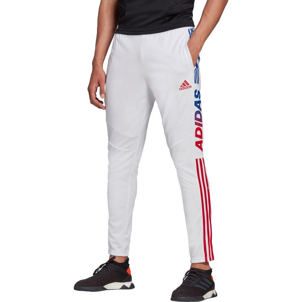 アディダス adidas メンズ フィットネス・トレーニング ボトムス・パンツ【Tiro 19 Wordmark Training Pants】White/Red/Blue
