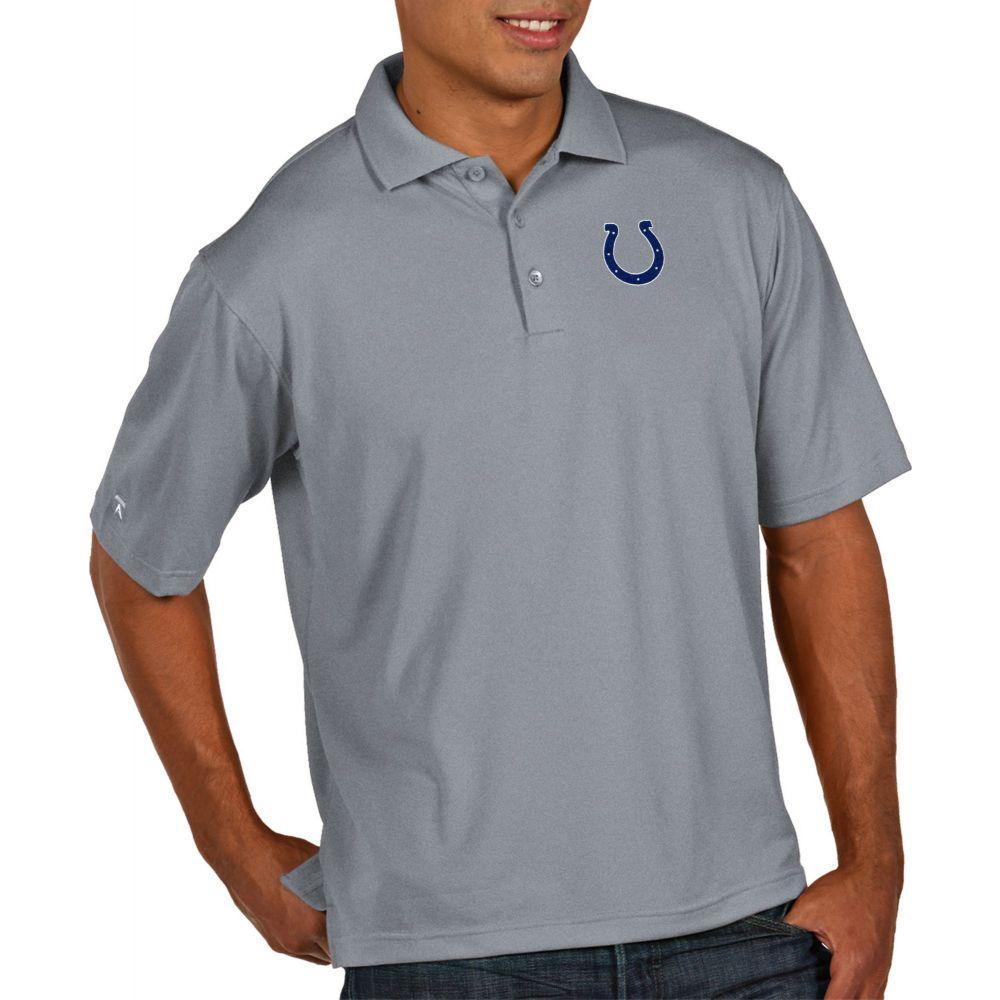 アンティグア Antigua メンズ ポロシャツ トップス【Indianapolis Colts Pique Xtra-Lite Performance Grey Polo】