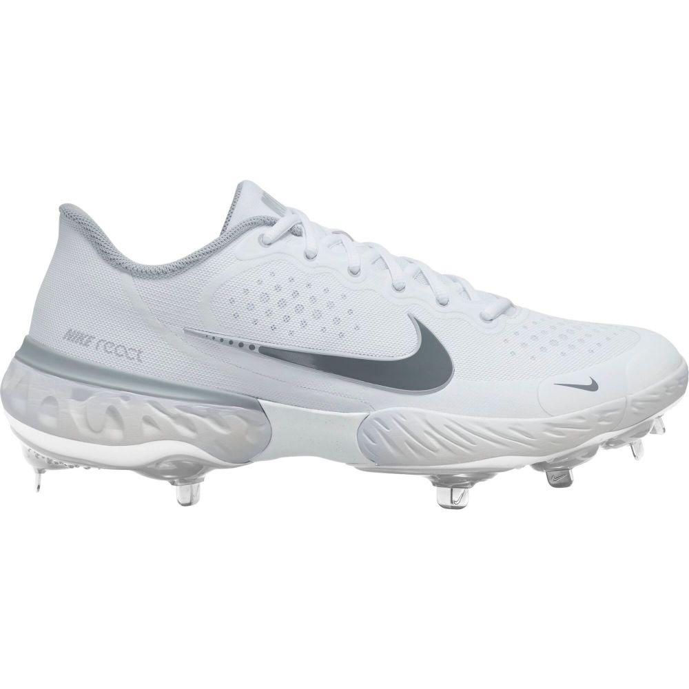 ナイキ Nike メンズ 野球 スパイク シューズ・靴【Alpha Huarache Elite 3 Low Metal Baseball Cleats】White/Grey