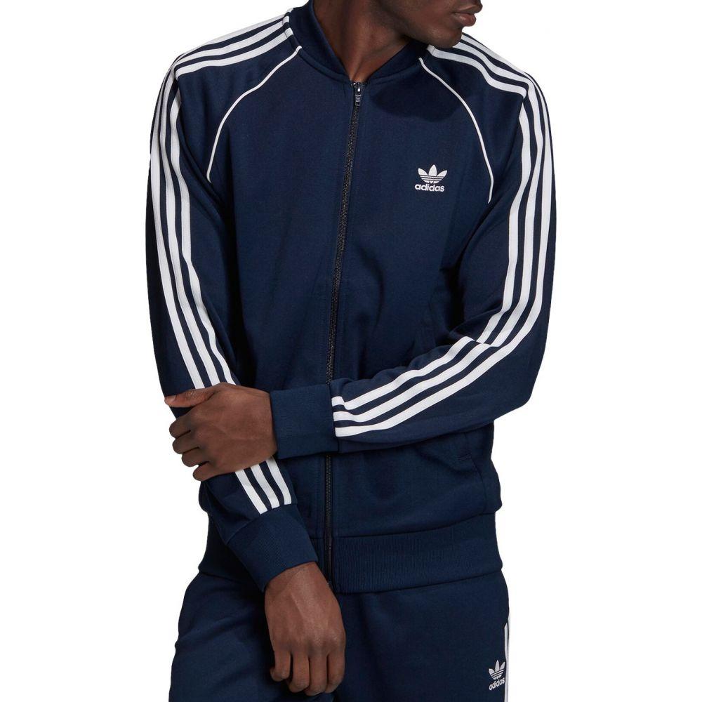 アディダス adidas メンズ ジャージ アウター【Superstar Track Jacket】Navy/White