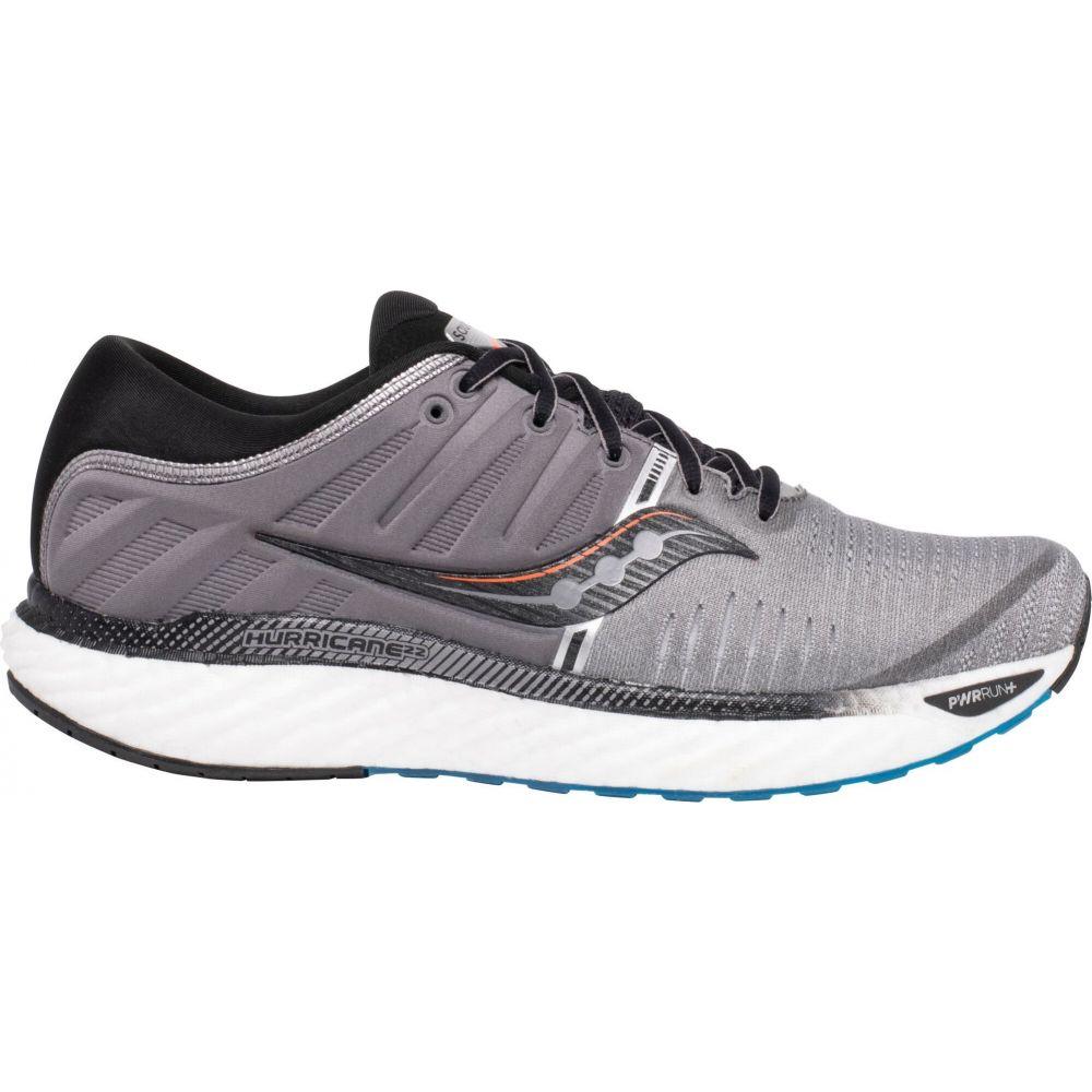 サッカニー Saucony メンズ ランニング・ウォーキング シューズ・靴【Hurricane 22 Running Shoes】Grey/Black