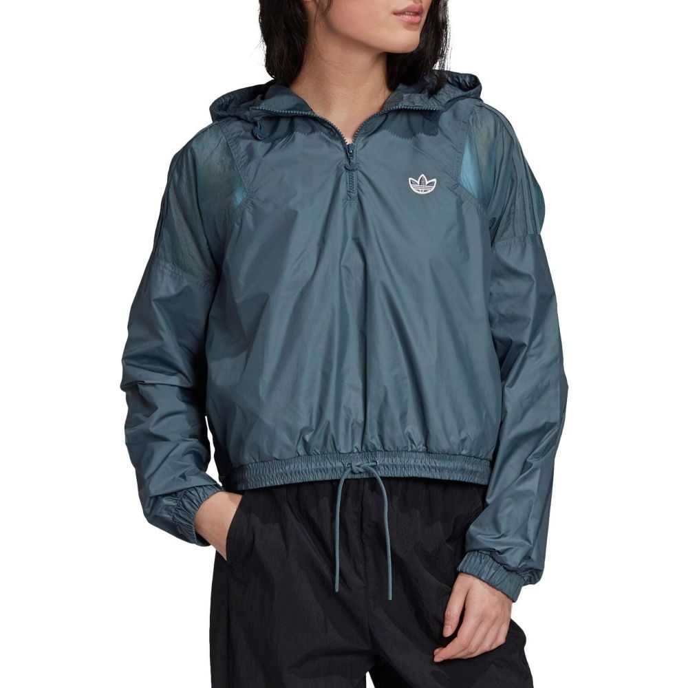 アディダス adidas レディース ジャケット ウィンドブレーカー アウター【Bellista Cropped Windbreaker Jacket】Legacy Blue