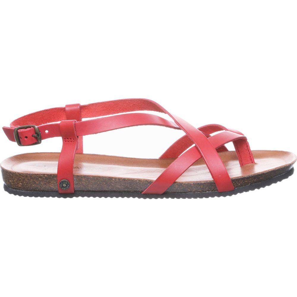 ベアパウ BEARPAW レディース サンダル・ミュール シューズ・靴【Lucia Sandals】Red