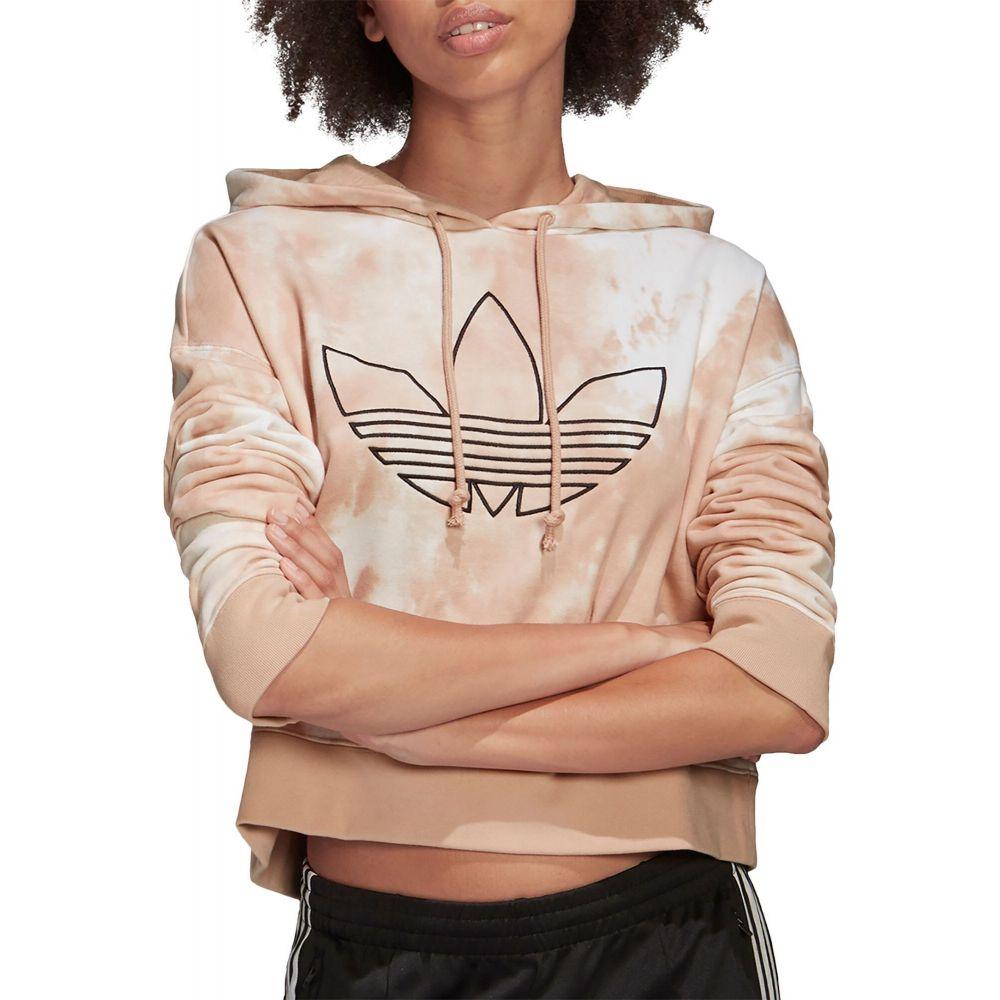 アディダス adidas レディース パーカー トップス【Originals Allover Print Cropped Hoodie】Multi