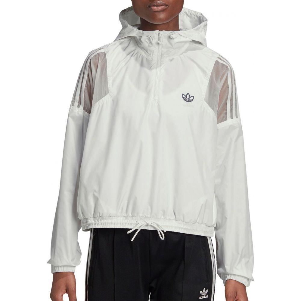 アディダス adidas レディース ジャケット ウィンドブレーカー アウター【Bellista Cropped Windbreaker Jacket】White