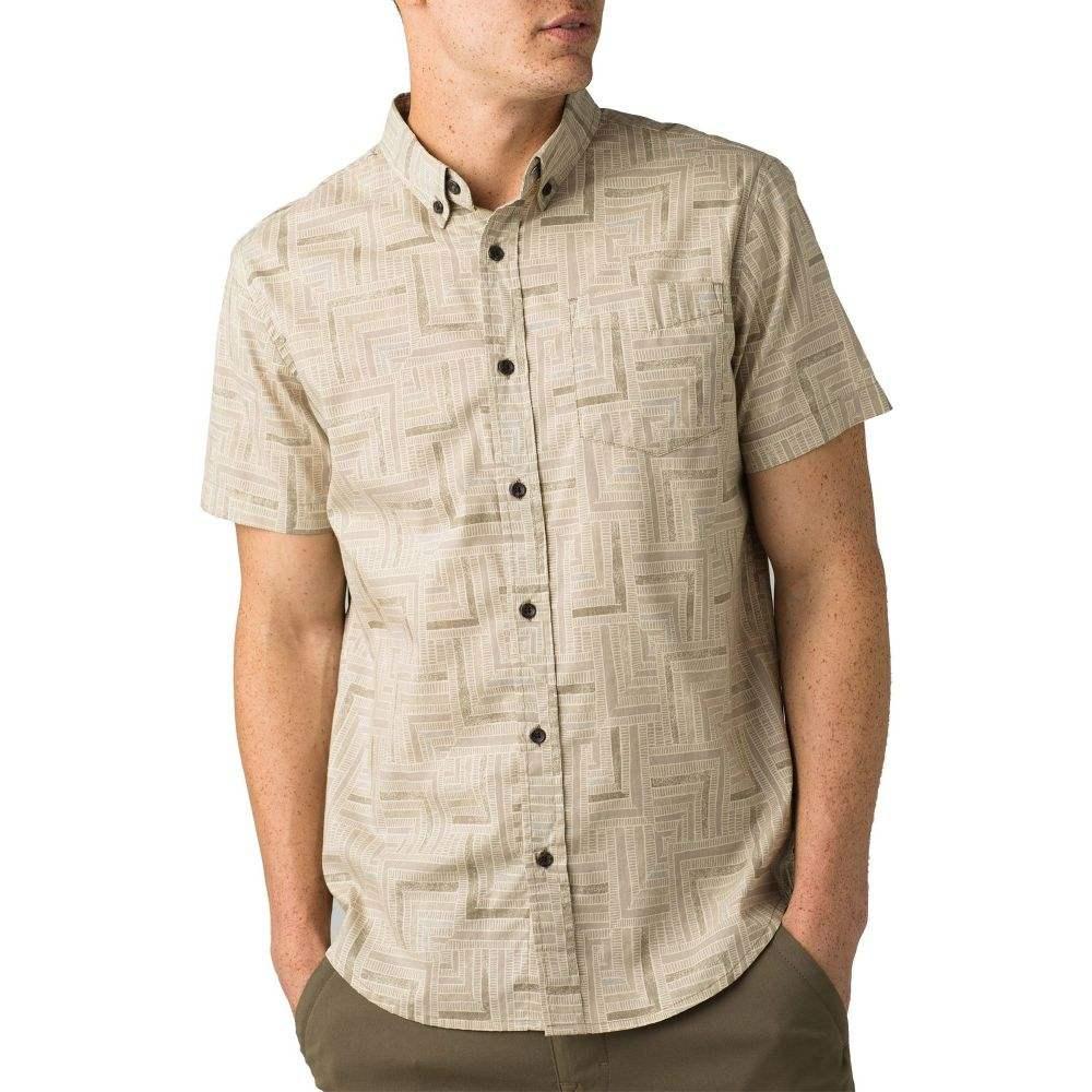 プラーナ prAna メンズ 半袖シャツ トップス【Broderick Short Sleeve Shirt】Dark Khaki Tile
