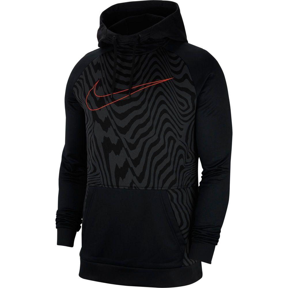 ナイキ Nike メンズ フィットネス・トレーニング パーカー トップス【Therma Printed Training Hoodie】Black/Team Orange