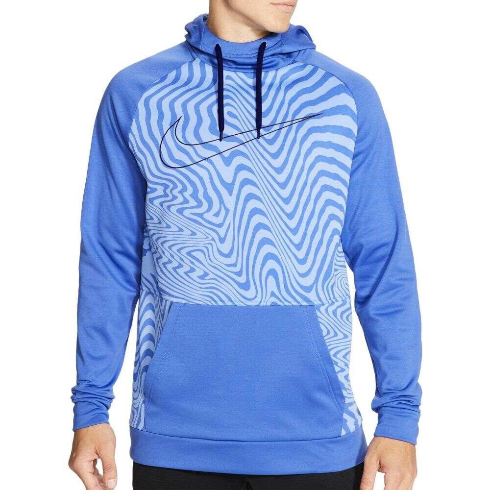 ナイキ Nike メンズ フィットネス・トレーニング パーカー トップス【Therma Printed Training Hoodie】Astronomy Blue