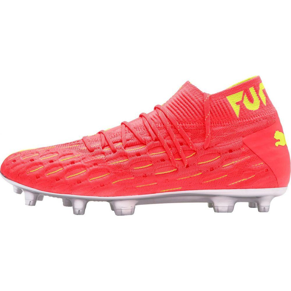 プーマ メンズ サッカー シューズ 靴 Orange Yellow サイズ交換無料 PUMA FG Soccer 送料無料 激安 お買い得 キ゛フト Future 内祝い Cleats NetFit OSG スパイク 5.1