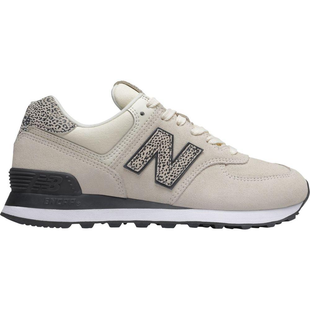 ニューバランス New Balance レディース スニーカー シューズ・靴【574 Print Shoes】Cream/Leopard