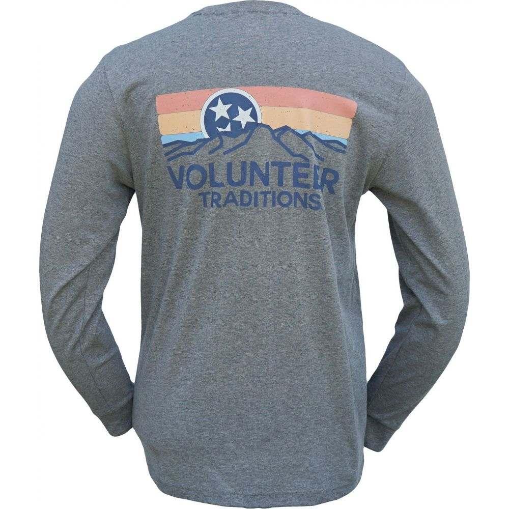 ボランティア トラディション Volunteer Traditions メンズ 長袖Tシャツ トップス【Tennessee Horizon Long Sleeve T-Shirt】Heather Grey:フェルマート