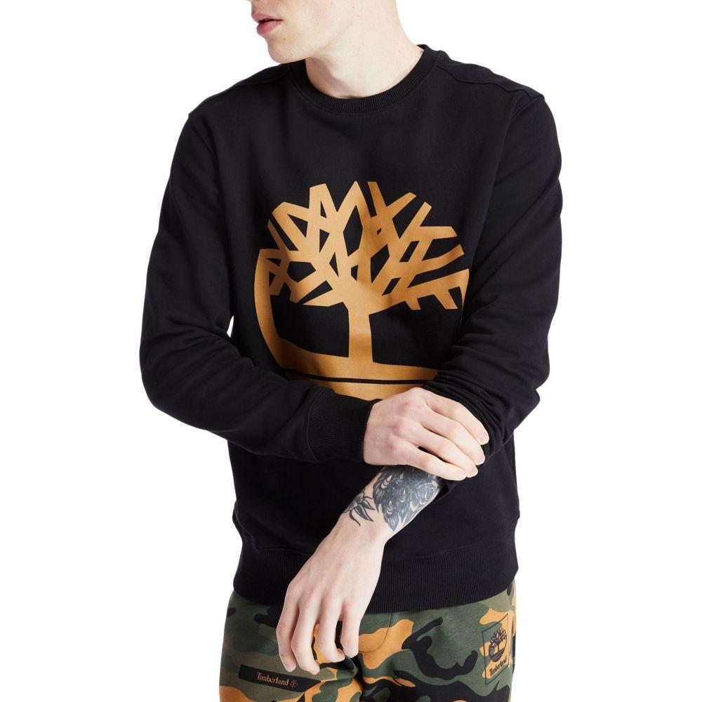 ティンバーランド Timberland メンズ スウェット・トレーナー トップス【Core Tree Logo Crew Sweatshirt】Black/Wheat Boot