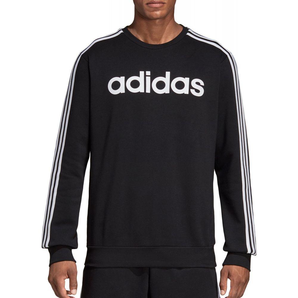 アディダス adidas メンズ スウェット・トレーナー トップス【Essentials 3-Stripes Sweatshirt】Black/White