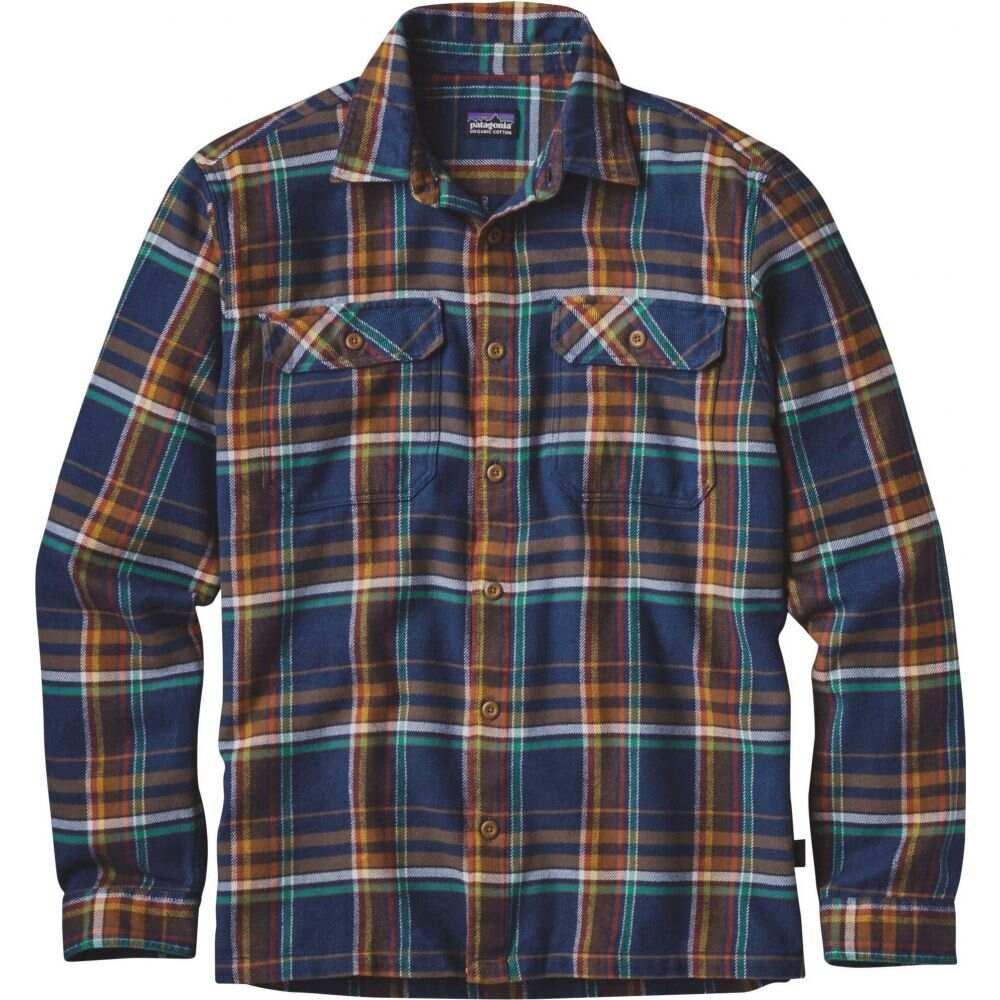 パタゴニア Patagonia メンズ シャツ フランネルシャツ トップス【Fjord Flannel Button Up Long Sleeve Shirt】Blue Ox/Navy Blue