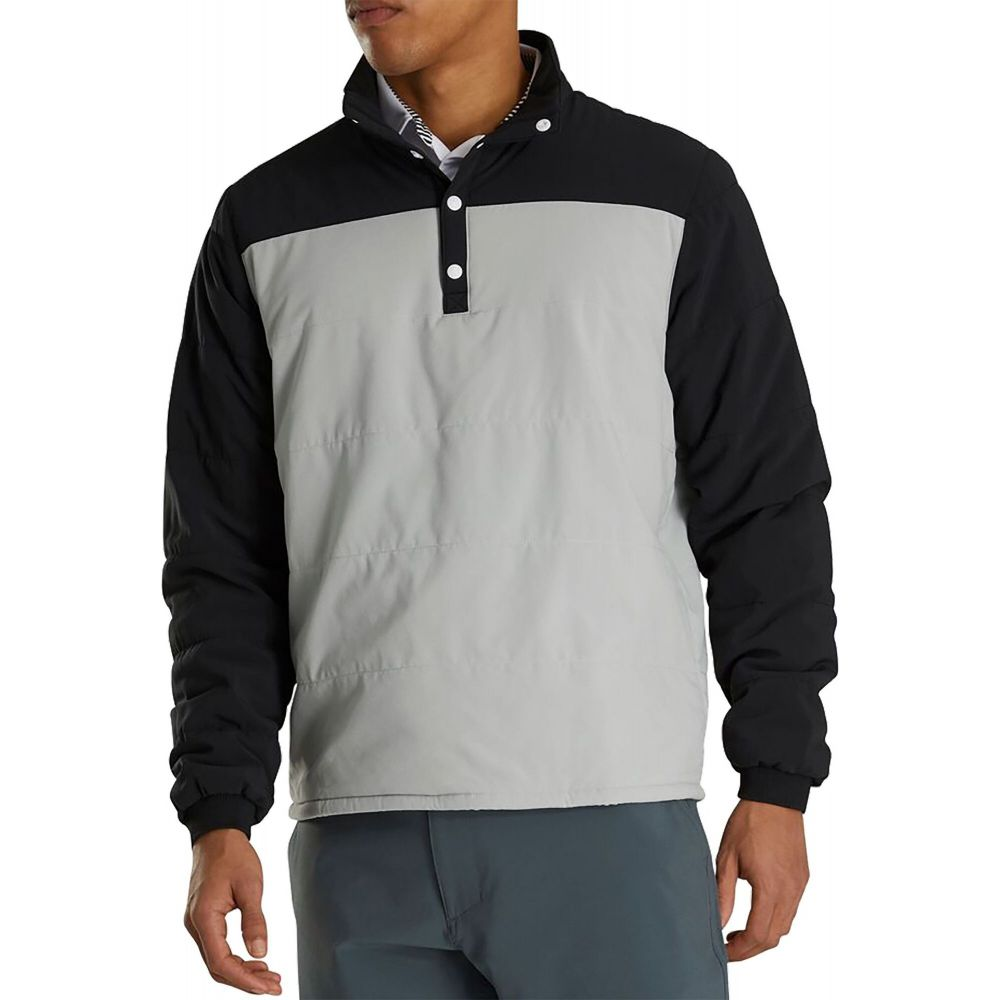 フットジョイ FootJoy メンズ ゴルフ ミッドレイヤー アウター【Themal MidLayer Golf Pullover】Black/Silver