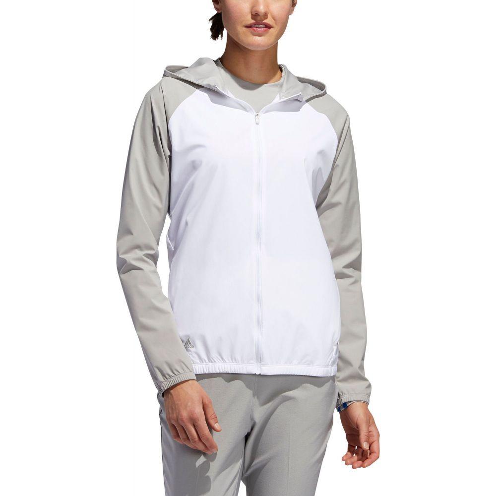 アディダス adidas レディース ゴルフ アウター【Provisional Golf Rain Jacket】White/Mgh Solid Grey